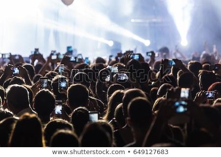 Siluet eller fotoğraf cep telefonu konser Stok fotoğraf © jeliva