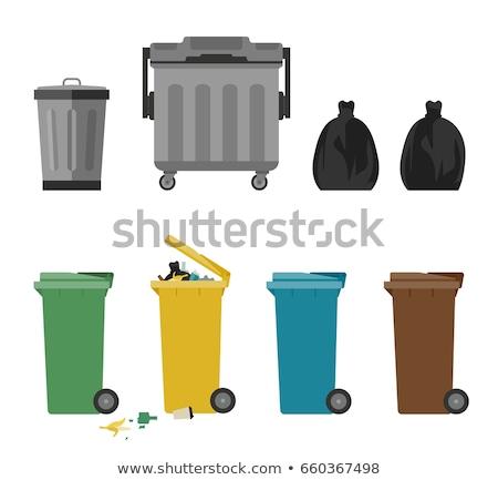 青 · ゴミ · プラスチック · ごみ · 袋 - ストックフォト © emattil