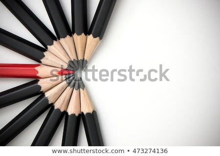 Standout - Think differently - Red Pencil Stock photo © axstokes