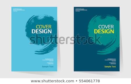 Modern vektor absztrakt könyvborító sablon üzlet Stock fotó © orson