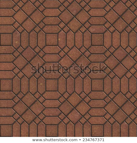 Brown Pavement with a Complicated Pattern. Stock photo © tashatuvango