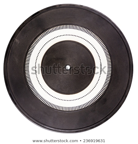 Vintage Rubber Turntable Platter Mat Сток-фото © Taigi