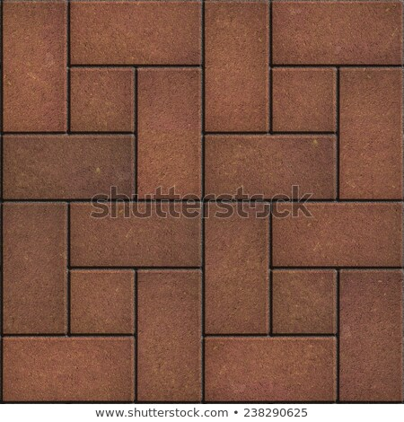 коричневый тротуар прямоугольный небольшой квадратный бесшовный Сток-фото © tashatuvango