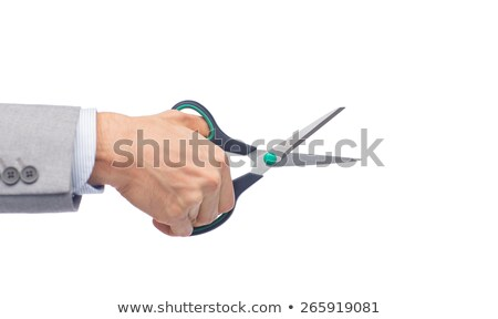 Male worker's hand holding scissors Stock photo © stevanovicigor