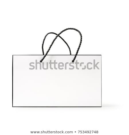 Verkauf Tasche isoliert weiß Prozent Stock foto © kravcs