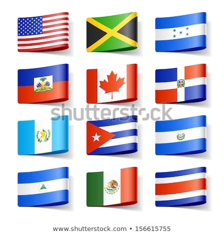 USA Nicaragua zászló Egyesült Államok Amerika fél Stock fotó © tony4urban