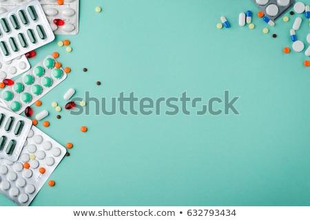 mavi · hapları · paket · sağlık · tıp - stok fotoğraf © gemenacom