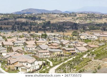 luchtfoto · voorstads- · buurt · huis · gebouw - stockfoto © feverpitch