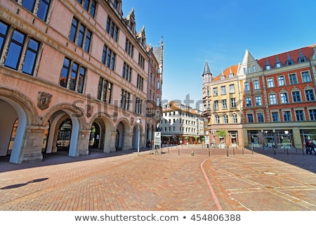 Ancient building at Hanns Lilje Platz in Hanover Stock photo © AndreyKr