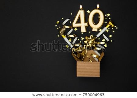 Születésnapi buli meghívó illusztráció kártya születésnap évforduló Stock fotó © Irisangel