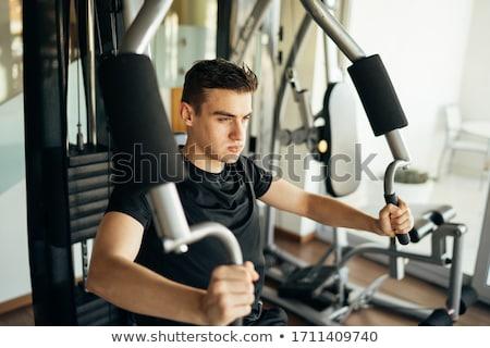 若い男 ジム スポーツ フィットネス 電源 腕 ストックフォト © boggy