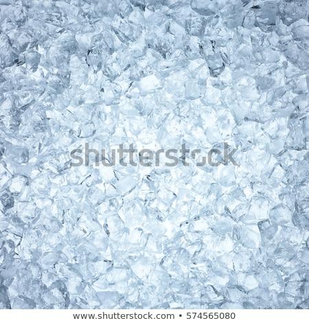 куча льда белый продовольствие фон синий Сток-фото © karandaev