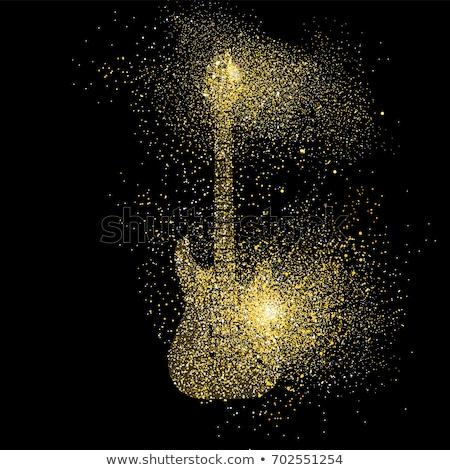 Gold Guitar Stock photo © Bigalbaloo