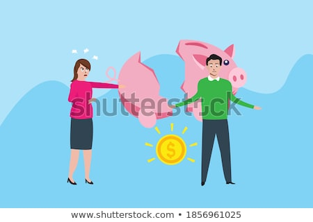 little business man screaming on stressed woman stock photo © fuzzbones0