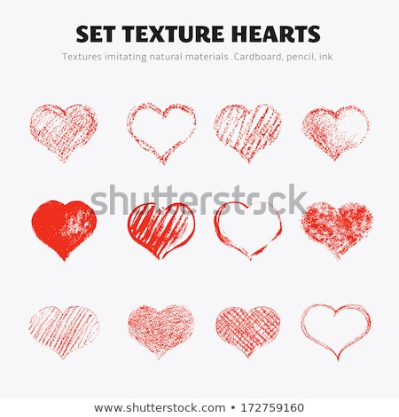 cardboard heart with red paint splash isolated on white Stock photo © tetkoren