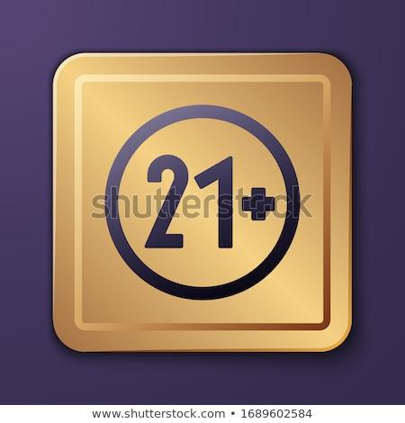 Alertar assinar dourado praça botão ícone Foto stock © rizwanali3d