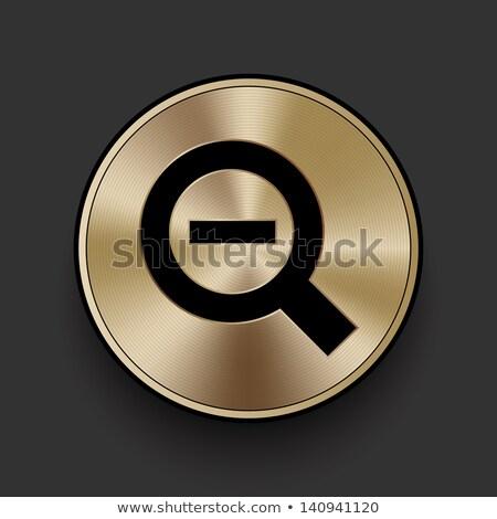 Mínusz körkörös vektor arany webes ikon gomb Stock fotó © rizwanali3d
