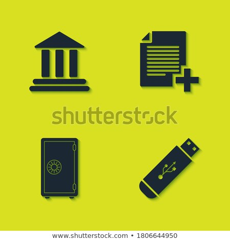 USB Sign Yellow Vector Icon Button Stock photo © rizwanali3d