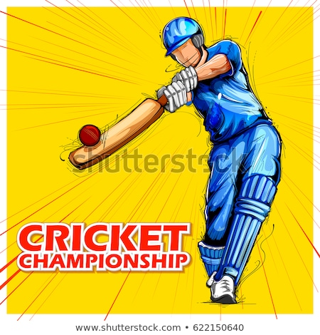 vetor · críquete · jogar · tiro · desenho · animado · segurança - foto stock © morphart