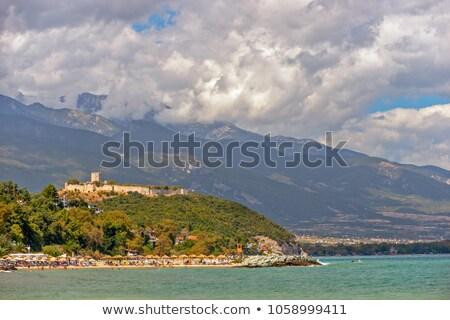 Médiévale forteresse Resort plage Grèce petite ville Photo stock © mahout