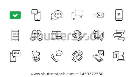 Sms icona business telefono segno web Foto d'archivio © kiddaikiddee