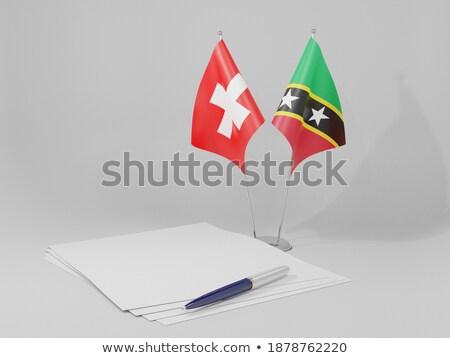 Suiza banderas rompecabezas aislado blanco Foto stock © Istanbul2009