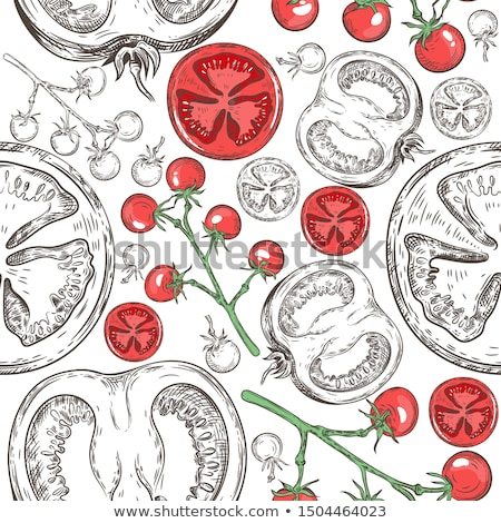 pattern with tomatos. Stock photo © frescomovie