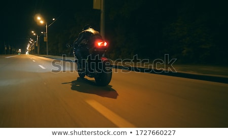 motorcyclist and his bike on country road  Stock photo © Paha_L