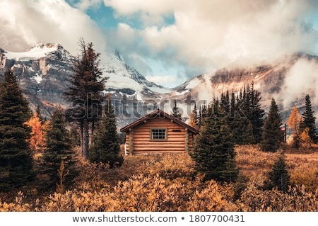 Hut in a mountain forest. Autumn Landscape  Stock photo © Kotenko