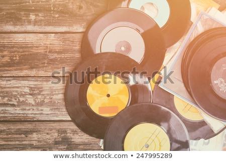 vinil · registro · cobrir · discoteca · festa · ilustração - foto stock © fisher