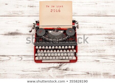 text happy new year 2016 written with an old typewriter stock photo © nito