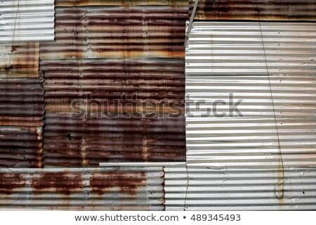 texture · vieux · endommagé · toit · brisé · rouge - photo stock © stoonn