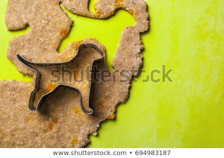 Köpek bisküvi pin haddeleme kurabiye Stok fotoğraf © rojoimages