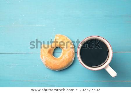 donut · koffie · ontbijt · eten · dessert · zoete - stockfoto © constantinhurghea