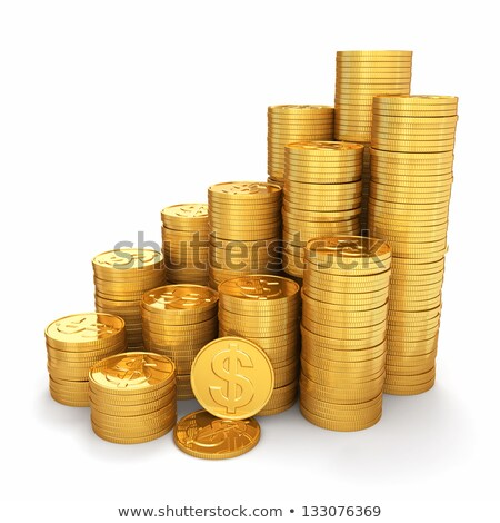 Pyramid of coins stacks on a white background Stock photo © Zerbor