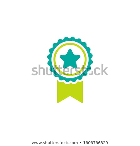certified guaranteed blue seal vector icon stock photo © rizwanali3d