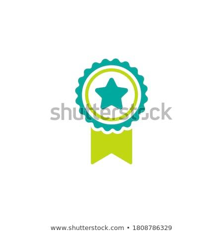 Certified Guaranteed Blue Seal Vector Icon Stock photo © rizwanali3d