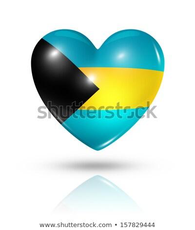 Багамские острова сердце флаг икона любви символ Сток-фото © netkov1