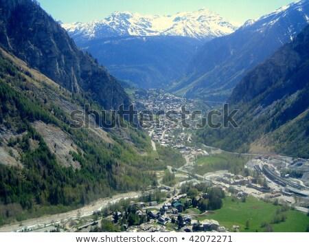 mont blanc   monte bianco hdr stock photo © antonio-s