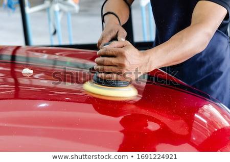 Autó viasz ruha kéz mosás gyantázás Stock fotó © Kurhan
