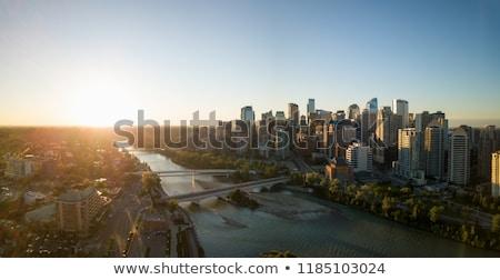 Panorama calgary zonsopgang Stockfoto © benkrut