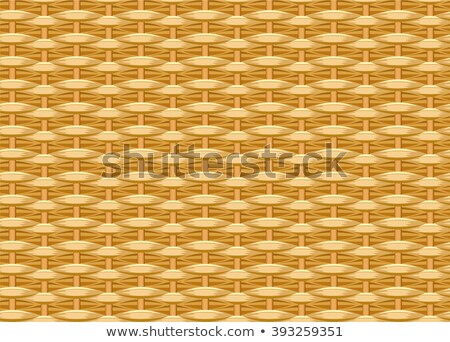Stock photo: Seamless braided background. Wicker straw. Woven willow twigs. Wicker texture