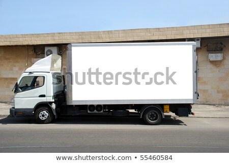 Camion de livraison vide illustration voiture rue design Photo stock © bluering