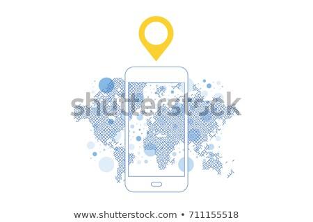 Téléphone carte icône cellule puce téléphone portable Photo stock © fenton