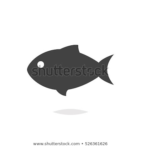 Peixe ícone projeto isolado mar Foto stock © robuart