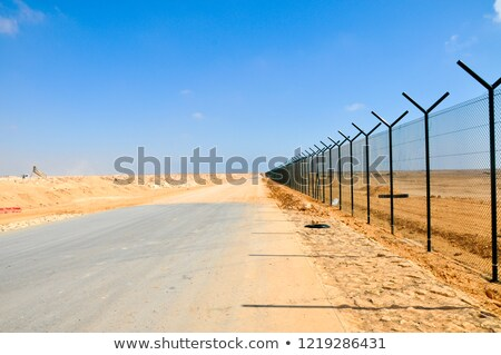 A desert with a fence Stock photo © bluering