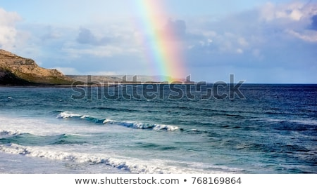 Colorful Rainbow over the Beach Shoreline Stock photo © enterlinedesign