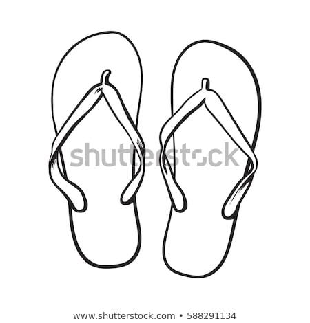 Flip-flops sketch icon. Stock photo © RAStudio