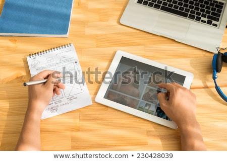 Web sitesi notepad iş ofis kalem web Stok fotoğraf © fuzzbones0