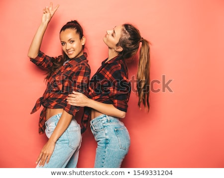 sexy beautiful couple in jeans stock photo © neonshot